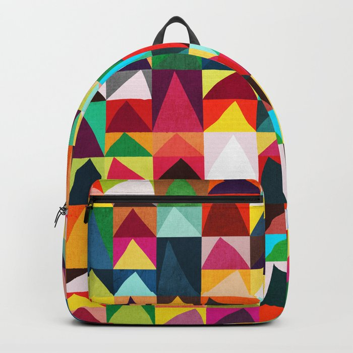 Abstract Geometric Mountains Backpack
