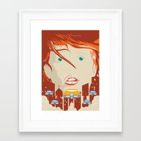 fifth element Framed Art Prints featuring The fifth element by Inno Theme