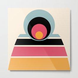 Circles & Stripes 01 Metal Print