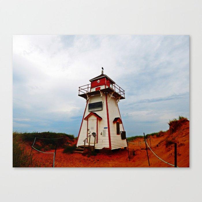 Crow on the Lighthouse Canvas Print