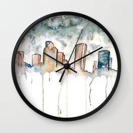 Houston Rain Wall Clock