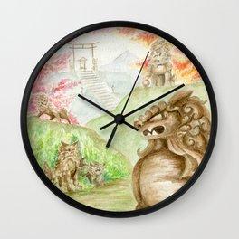 Guardian Lions Wall Clock