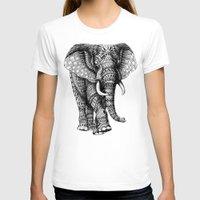 bioworkz T-shirts featuring Ornate Elephant v.2 by BIOWORKZ