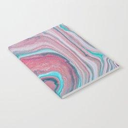 Agate fluid art Notebook