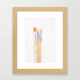 Set of brushes Framed Art Print