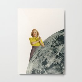 He Gave Her The Moon Metal Print