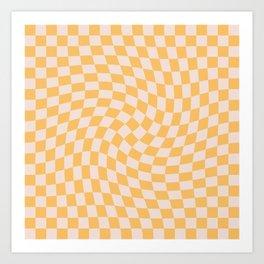 Check I - Yellow Twist Art Print