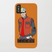 marty mcfly iPhone & iPod Cases featuring Marty McFly by Pendientera
