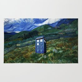 tardis in the countryside Rug