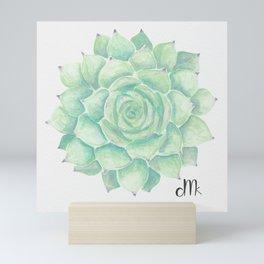 Watercolour succulent Mini Art Print