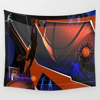 basketball Wall Tapestries featuring Basketball by Robin Curtiss
