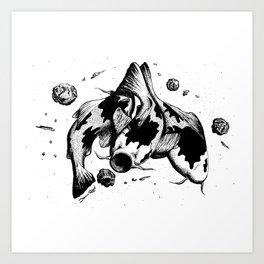 Koi Fish Space Eater Art Print