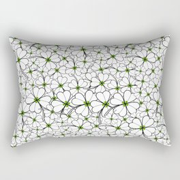 Line art - Clover Rectangular Pillow