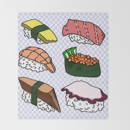 Sushi! Throw Blanket