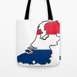 Netherlands Map with Dutch Flag Tote Bag
