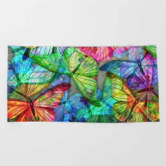 Butterfly Farm Beach Towel
