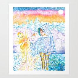 Seeker by Andrew Kaminski Art Print