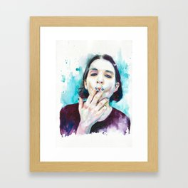 25th frame of my mind (Brian Molko) Framed Art Print