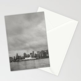 Vancouver Raincity Series - Raincity i - Moody Downtown Vancouver Cityscape Stationery Cards