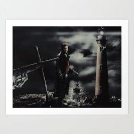 Halloween Captain Hook 2 Art Print