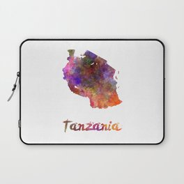Tanzania  in watercolor Laptop Sleeve
