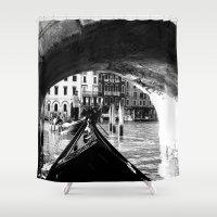 venice Shower Curtains featuring venice by gzm_guvenc