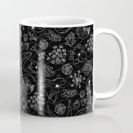 Cephalopods - Black and White Coffee Mug