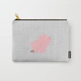 Rosa the Pig Poops (Grey) Carry-All Pouch