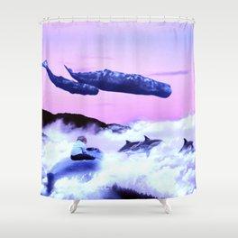 Whale migration Shower Curtain
