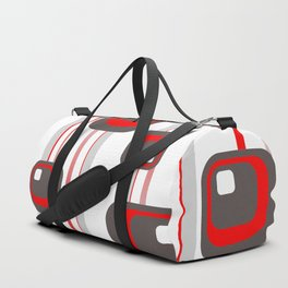 Vintage Retro Graphic white Duffle Bag