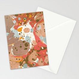 Blue Burns Orange Stationery Cards