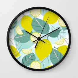 Lemons and Slices Wall Clock