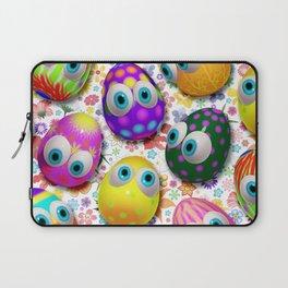 Cute Easter Eggs Cartoon 3d Pattern Laptop Sleeve