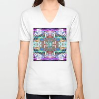 rave V-neck T-shirts featuring RATE RAVE by Riot Clothing