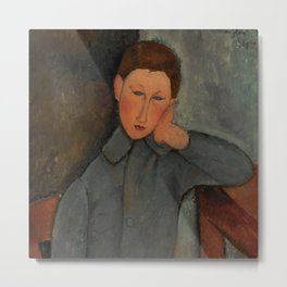 "Amedeo Modigliani ""The Boy"" Metal Print"