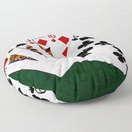 Poker Hand Straight King Queen Jack Ten Nine Floor Pillow