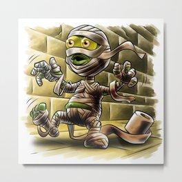 Funny Mummy Metal Print