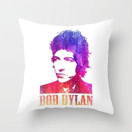 Bob Dylan Print Throw Pillow