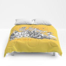 Kids World of Sunshine a Zentangle Illustration Comforters