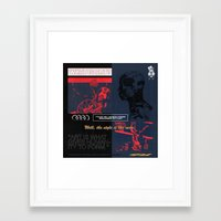 godard Framed Art Prints featuring Art Is What Gives Humanity To Form  by artbynatejames