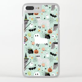 Pitbull halloween costumes pet portrait fall october cute trick or treat pitbulls Clear iPhone Case