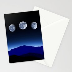 Moon Phases #blue Stationery Cards