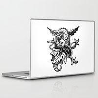 pee wee Laptop & iPad Skins featuring Wee Wyvern by Bramble & Posy
