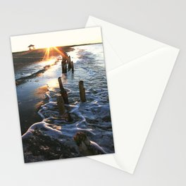 Sunset on aN East Coast Beach in Canada Stationery Cards