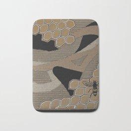 Cardboard honey bee Bath Mat
