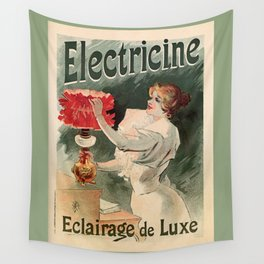 Electricine, French luxury lighting vintage ad Wall Tapestry