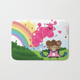 Cotton Candy can save the world!!! Bath Mat