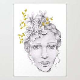 Golden Girl Art Print