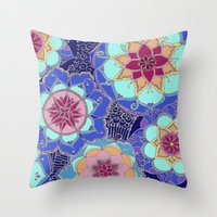 psychedelic Throw Pillows featuring Psychedelic by Marina K.