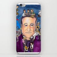 robin williams iPhone & iPod Skins featuring Robin Williams  by Aviva Bubis Art and Stuff